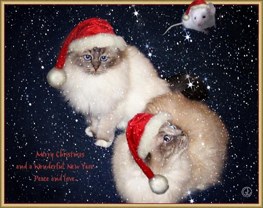 Greeting Card Digital Art - Happy Holidays by Gun Legler