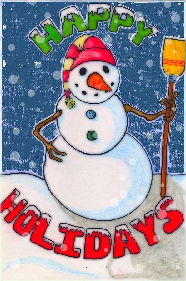 Hat Digital Art - Happy Holidays by Jame Hayes