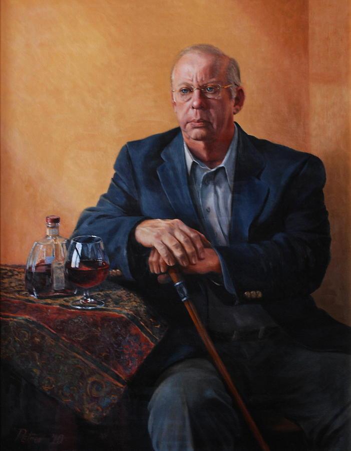Portrait Painting - Happy Hour by Dan Petrov