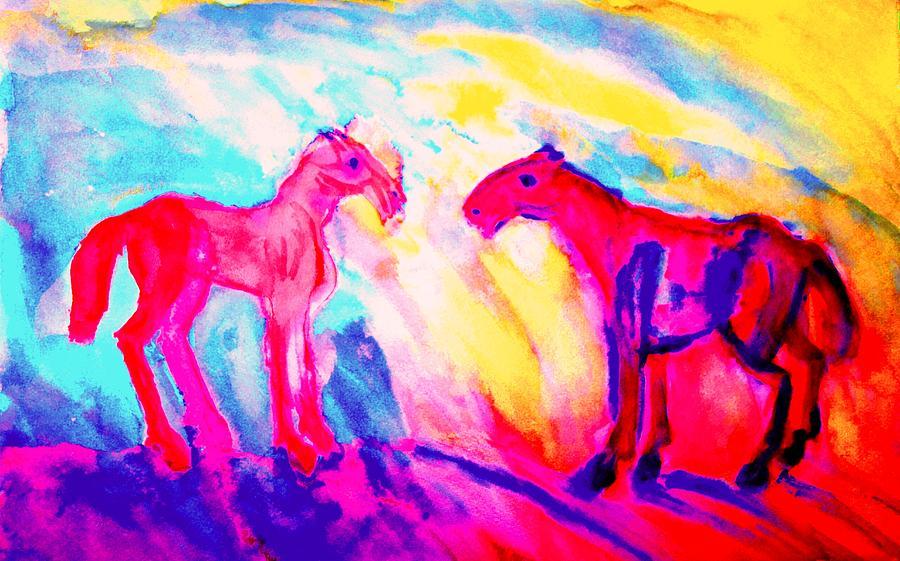 Happy Hulders Horses  Painting