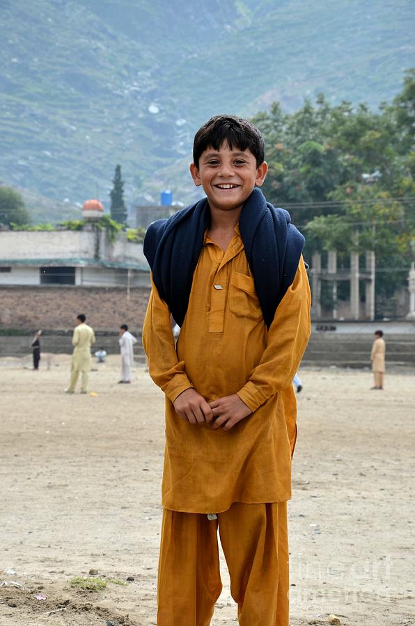 Happy Laughing Pathan Boy In Swat Valley Pakistan