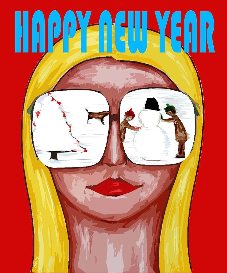 Happy New Year 51 Painting  - Happy New Year 51 Fine Art Print