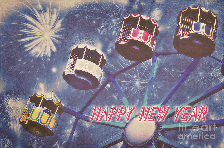 New Year Photograph - Happy New Year by Angela Doelling AD DESIGN Photo and PhotoArt