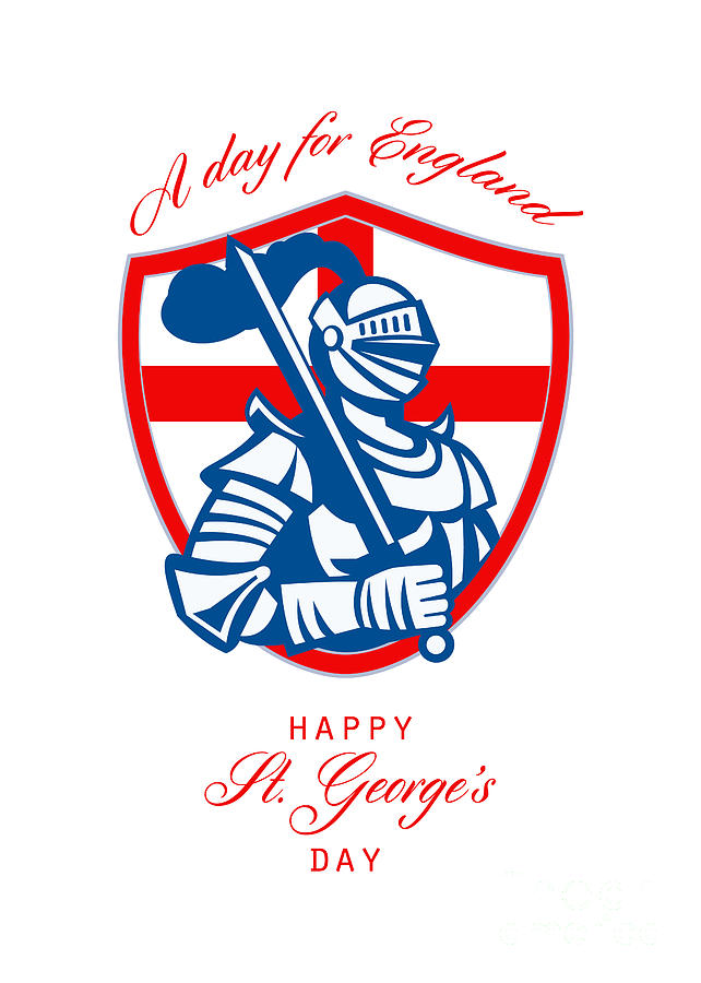 Happy St George A Day For England Greeting Card Digital Art