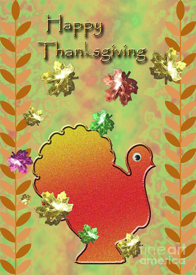 Happy Thanksgiving Turkey  Digital Art