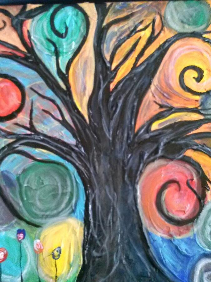 Happy Tree Painting  - Happy Tree Fine Art Print