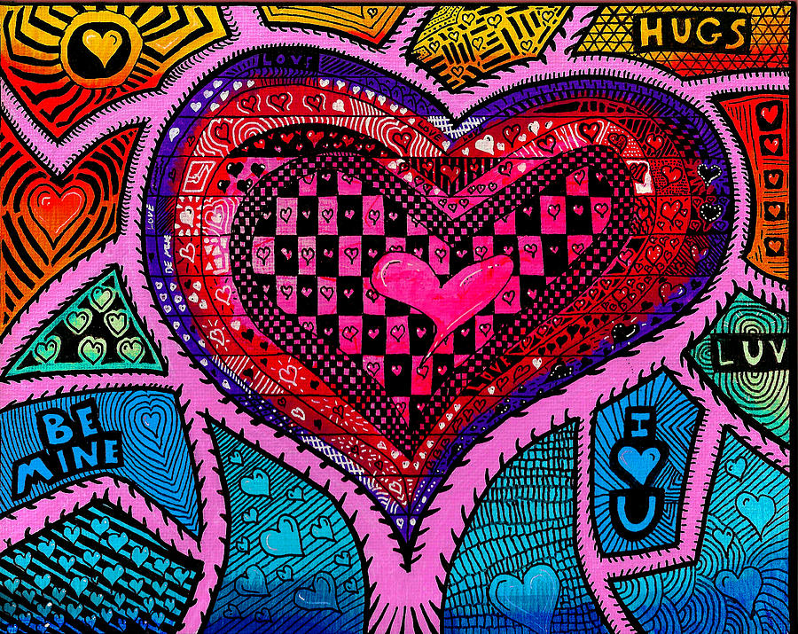 Happy Valentines Day 2013 Painting  - Happy Valentines Day 2013 Fine Art Print