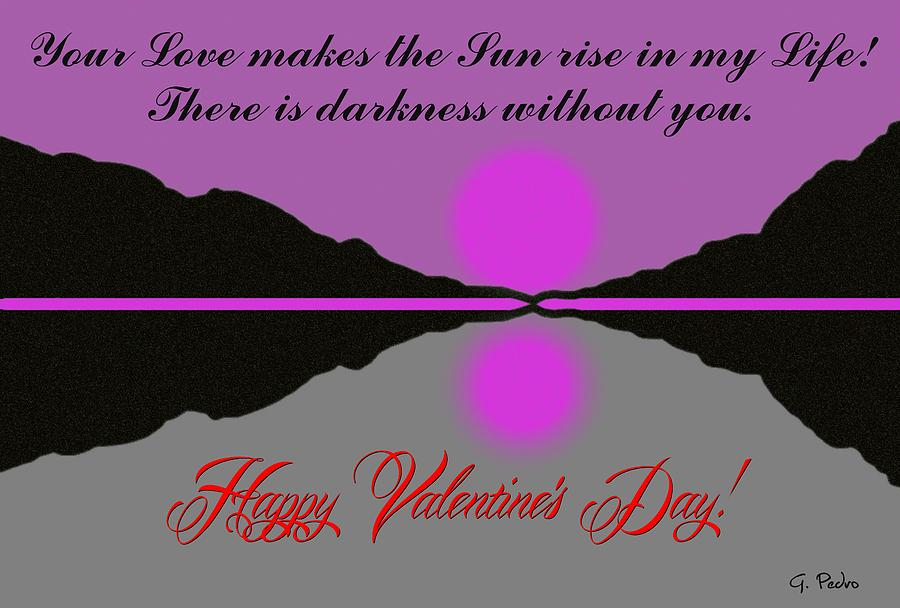 Happy Valentines Day Digital Art  - Happy Valentines Day Fine Art Print