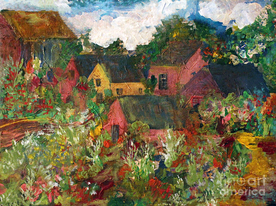 Happy Village Painting  - Happy Village Fine Art Print