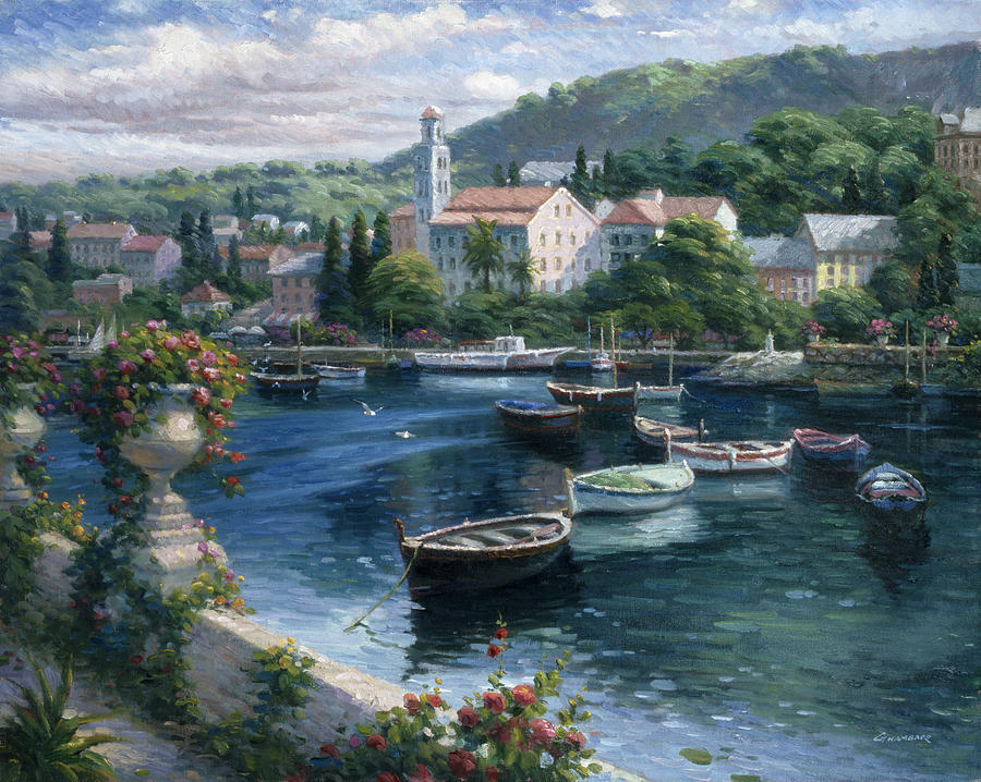 Harbor Boats Painting