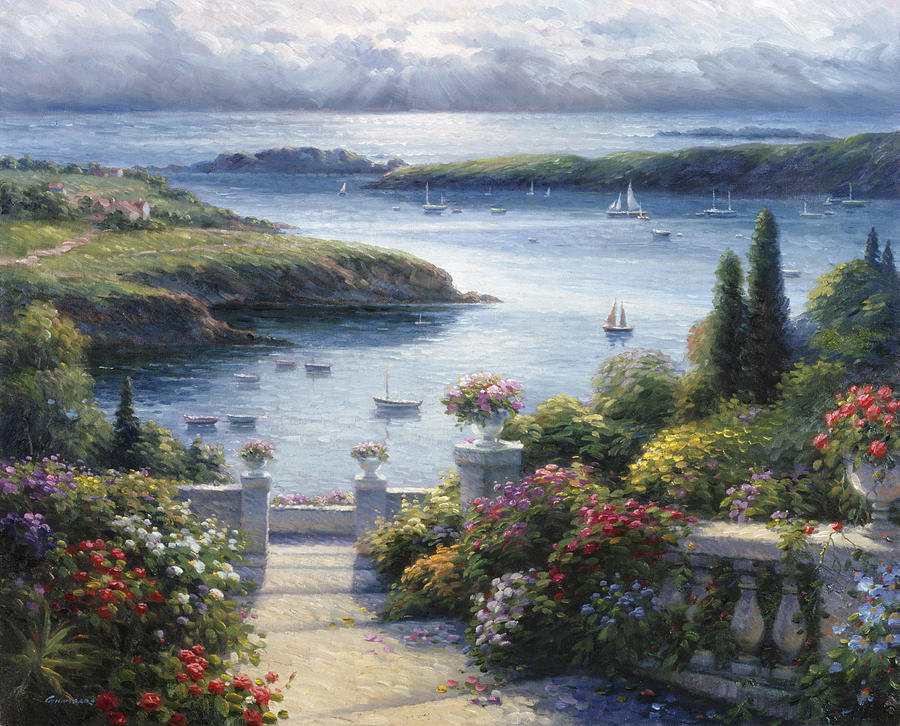 Harbor Garden Painting