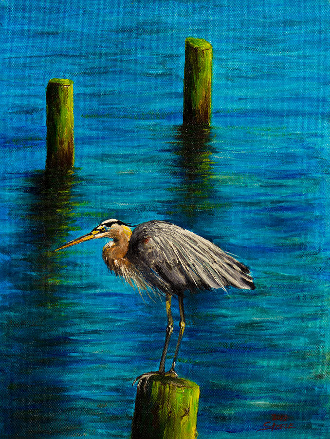 Harbor Sentry Painting  - Harbor Sentry Fine Art Print