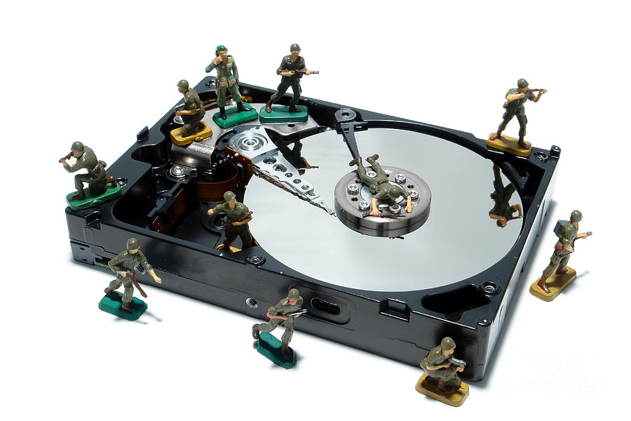 Computer Photograph - Hard Drive Defense  by Olivier Le Queinec