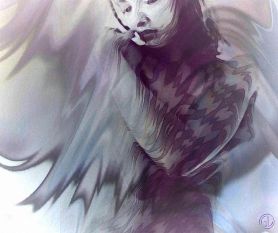 Woman Digital Art - Harlequine by Gun Legler