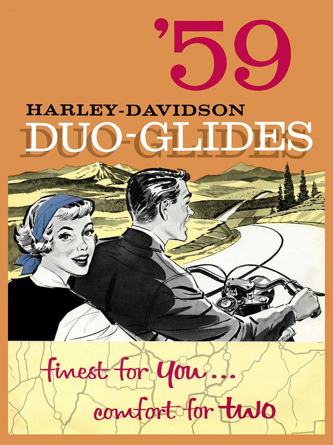 Harley Davidson Duo-glides 59 Photograph