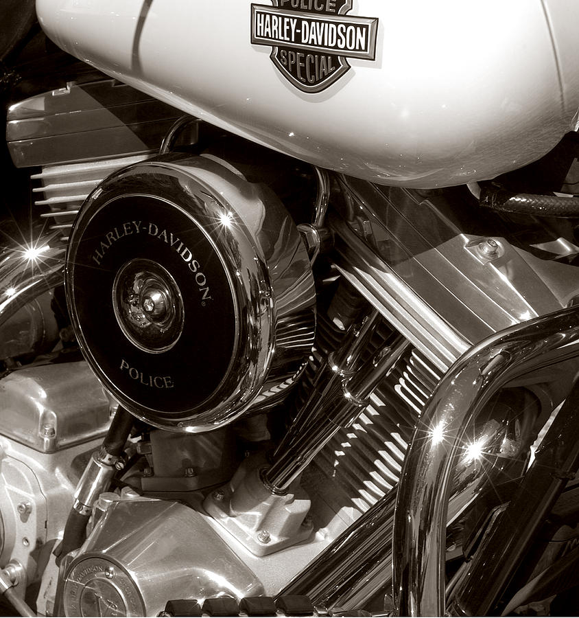 Harley Davidson Engine Detail Photograph  - Harley Davidson Engine Detail Fine Art Print