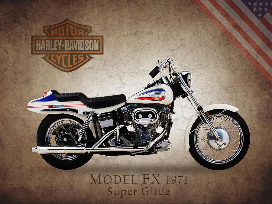 Harley-davidson Model Fx Super Glide 1971 Photograph