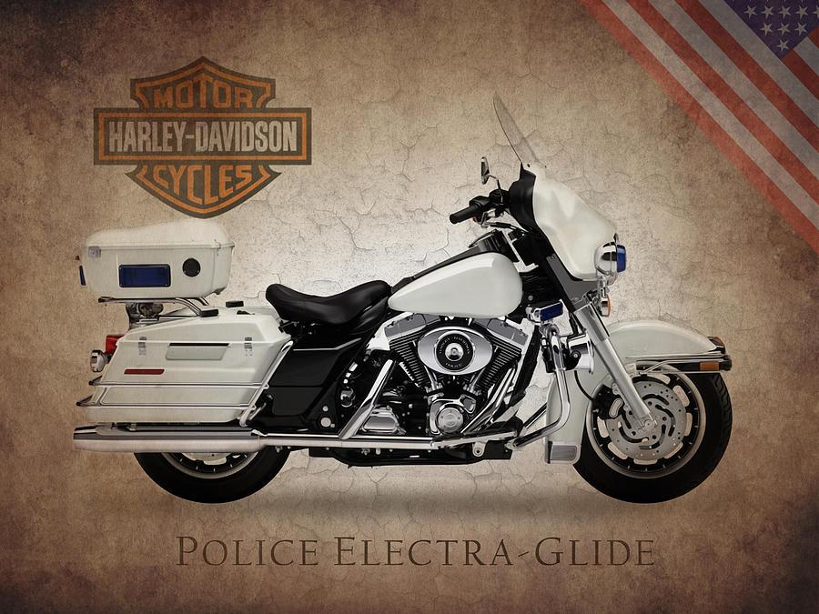 Harley Davidson Police Electra Glide Photograph