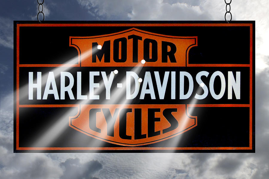 Harley Davidson Sign Photograph