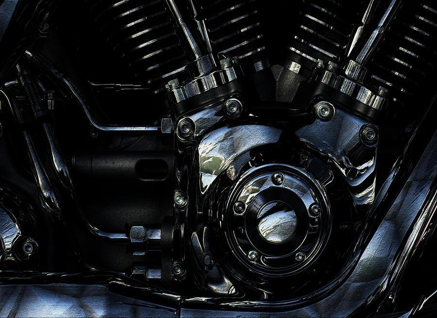 Harley Davidson Painting - Harley Davidson V Twin 2 by Jack Zulli