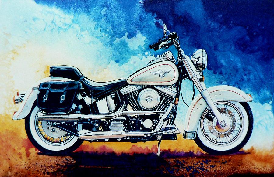 Harley Hog Painting Painting - Harley Hog II by Hanne Lore Koehler