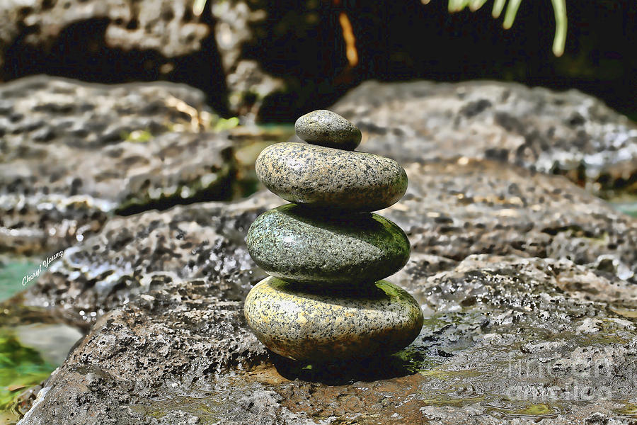 Conical Rock Piles Photograph - Harmony by Cheryl Young