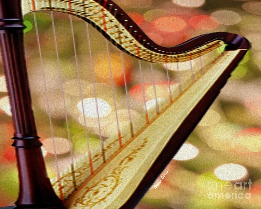 Musical Photograph - Harp by Cheryl Young