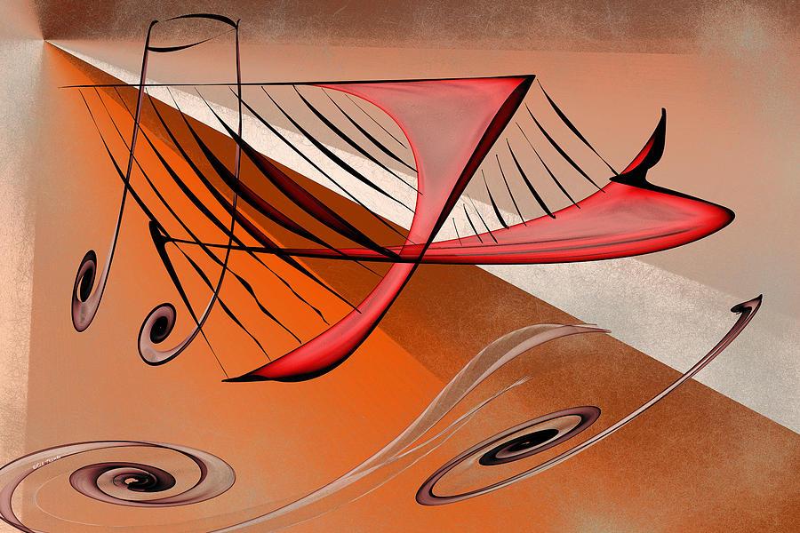 Harp Digital Art