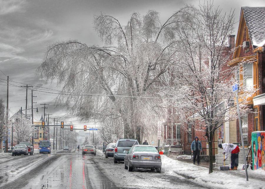 Ice Photograph - Harrisburg On Ice by Lori Deiter