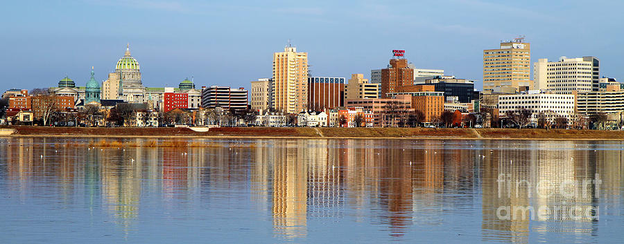 Harrisburg Reflections Photograph  - Harrisburg Reflections Fine Art Print