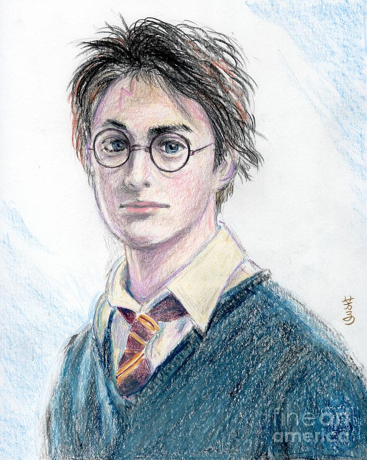 Harry Potter - Daniel Radcliffe Drawing  - Harry Potter - Daniel Radcliffe Fine Art Print