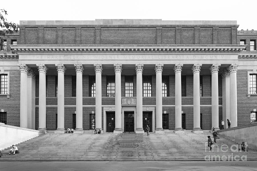 Harvard University Widener Library Photograph