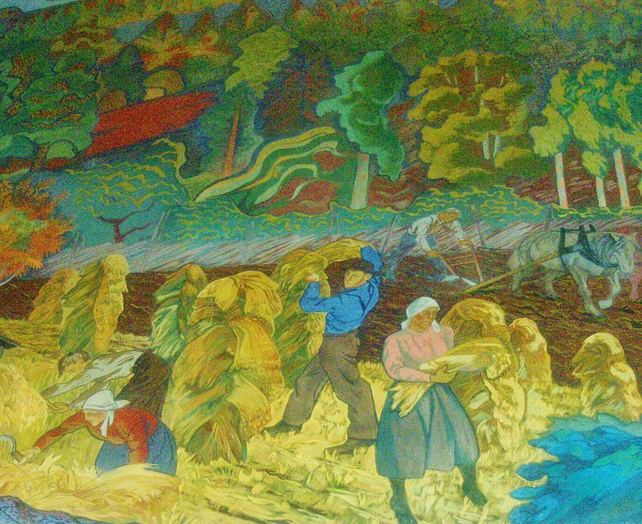 Harvest Time    Art Deco Painting