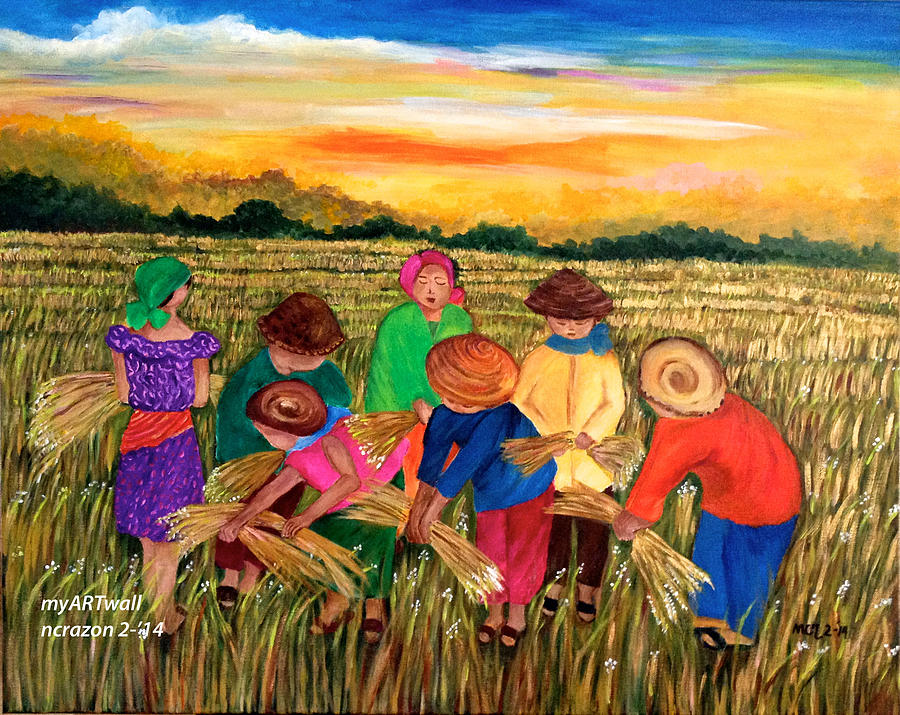 Harvest Time Nancy Razon Rice Painting By