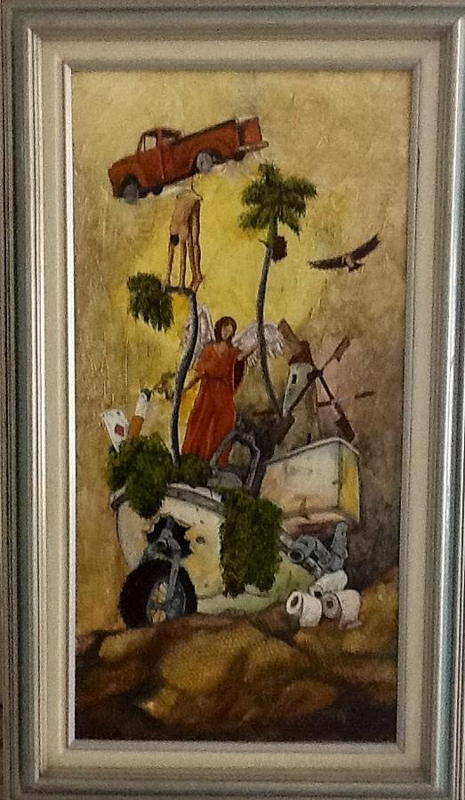Harvesting The Future Painting by Carlos Rodriguez Yorde