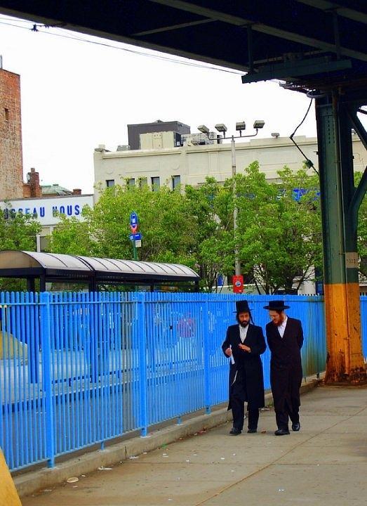 Hasidic Jews In New York Photograph