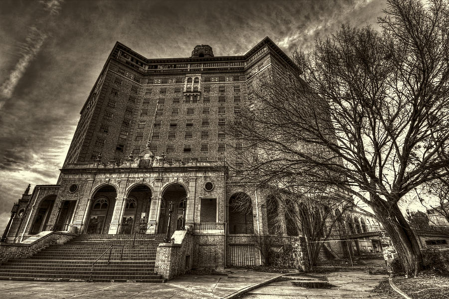 Haunted Baker Hotel Photograph  - Haunted Baker Hotel Fine Art Print