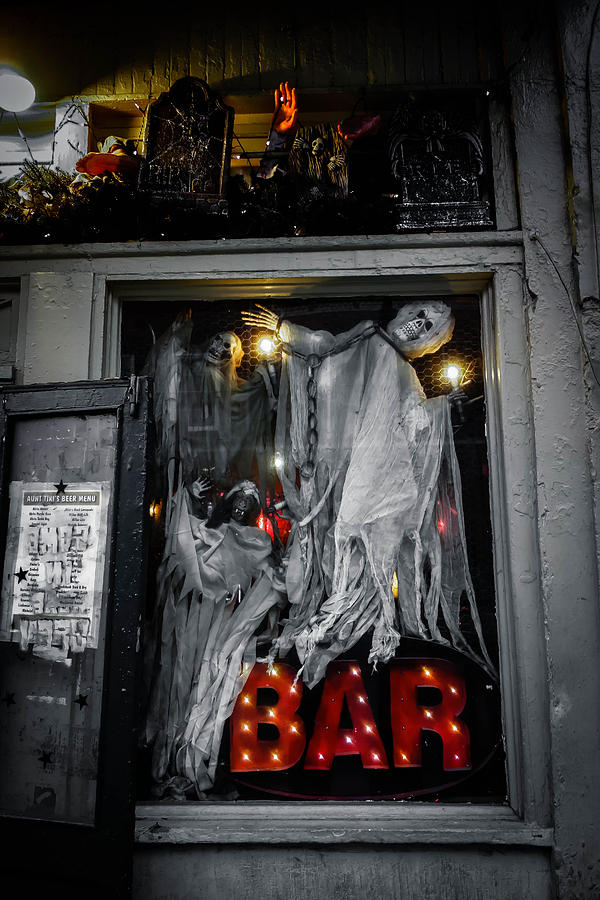 Ghost Photograph - Haunted Bar by Louis Maistros