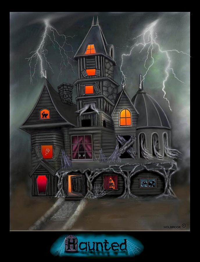 Halloween Art Digital Art - Haunted by Glenn Holbrook