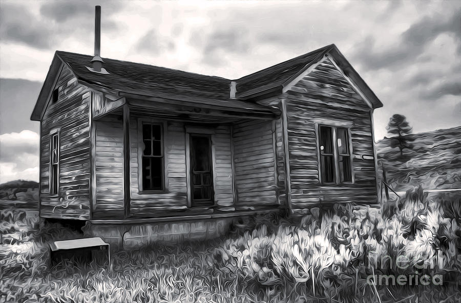 Haunted Shack - 01 Painting  - Haunted Shack - 01 Fine Art Print
