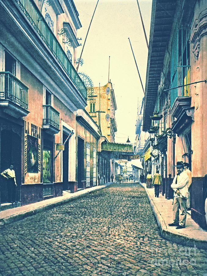 Havana Street Cuba 1899 Photograph