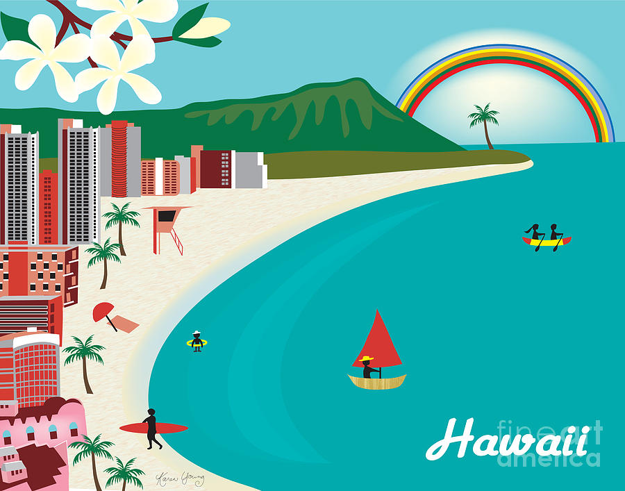 Hawaii Digital Art  - Hawaii Fine Art Print