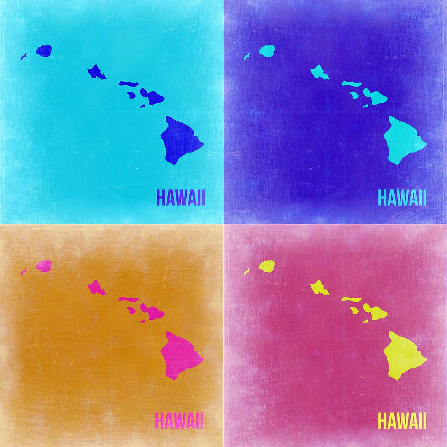 Hawaii Pop Art Map 2 Painting