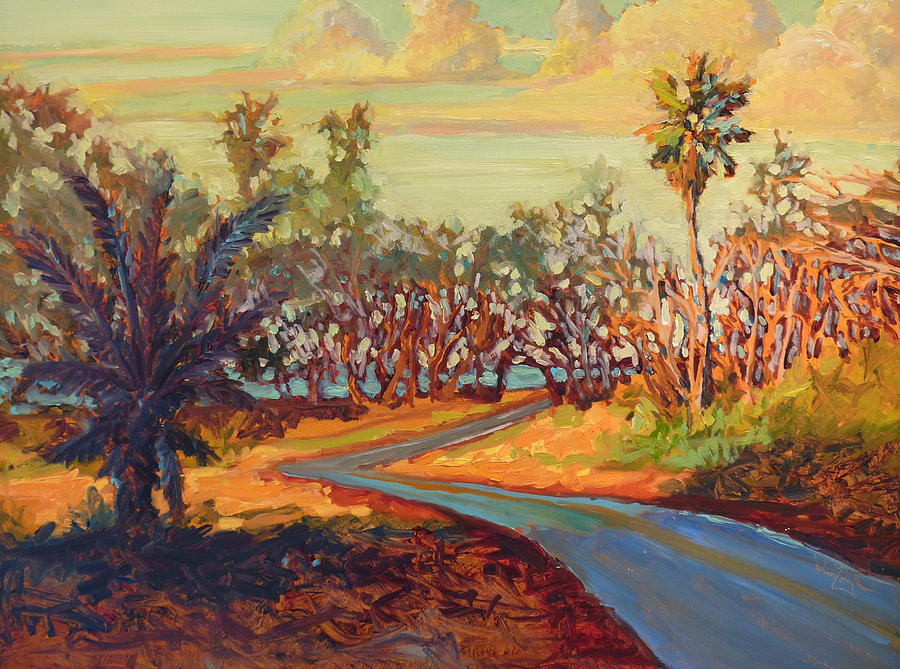 Hawaii Shadow Road Painting  - Hawaii Shadow Road Fine Art Print