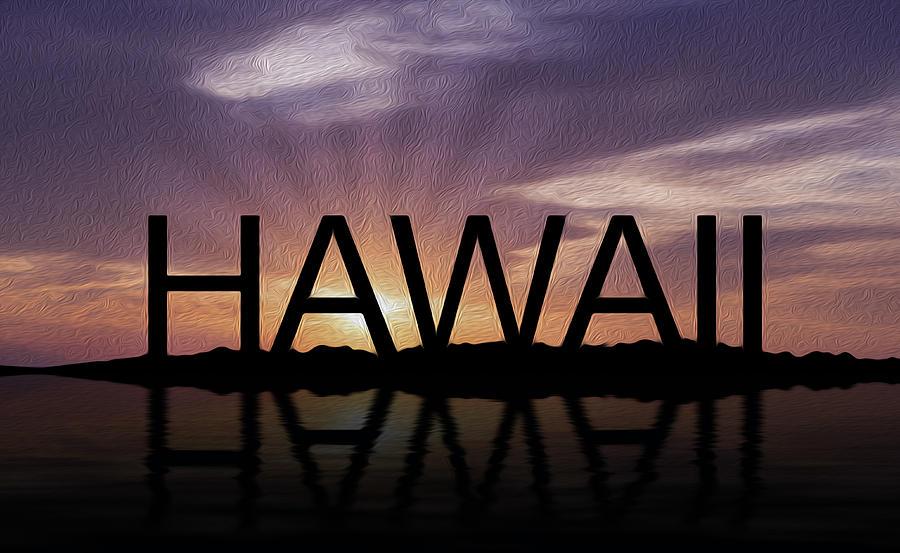 Hawaii Tropical Sunset Photograph