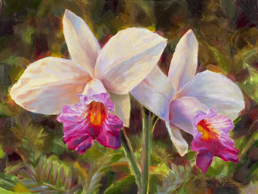 Hawaiian Bamboo Orchid Painting