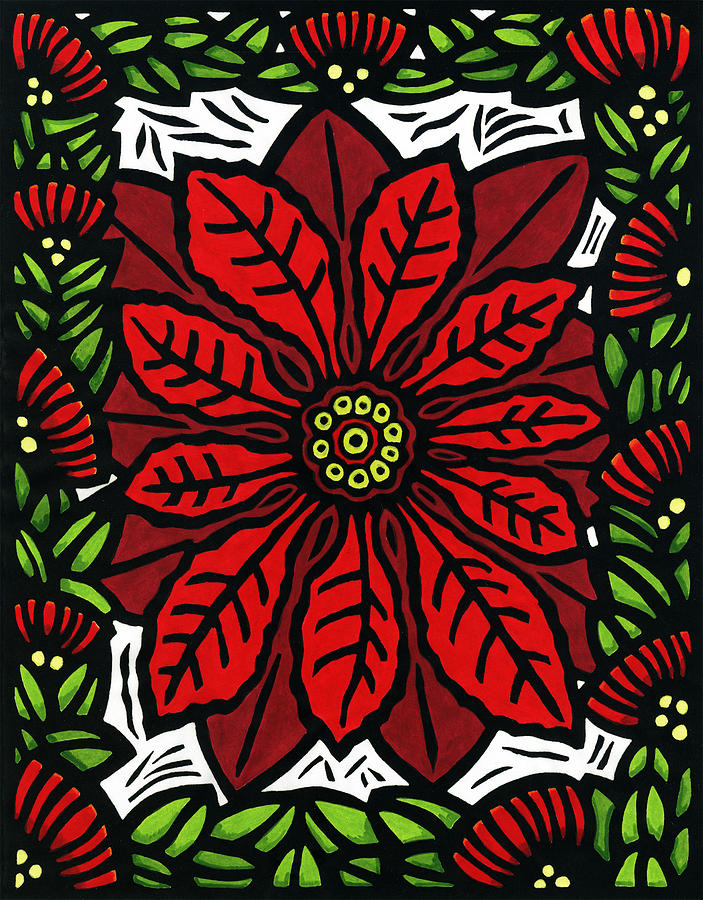 Hawaiian Christmas Joy Mixed Media  - Hawaiian Christmas Joy Fine Art Print