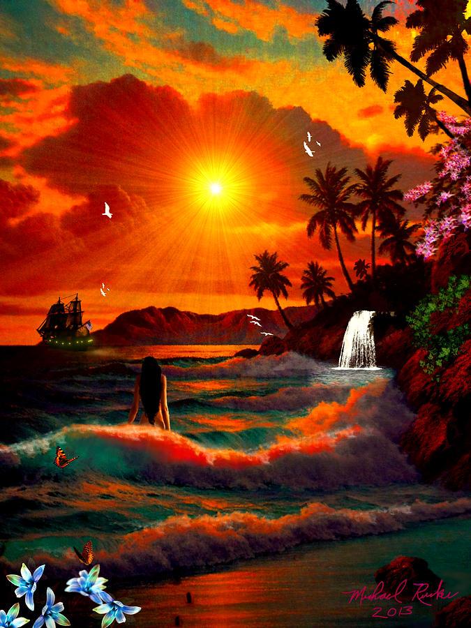 Hawaiian Islands Digital Art By Michael Rucker