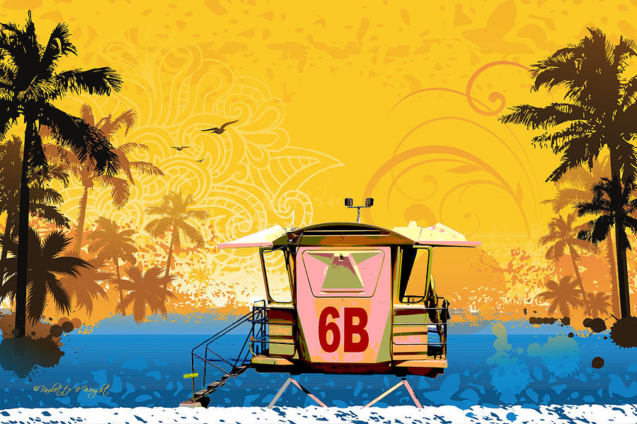 Hawaiian Lifeguard Station Digital Art
