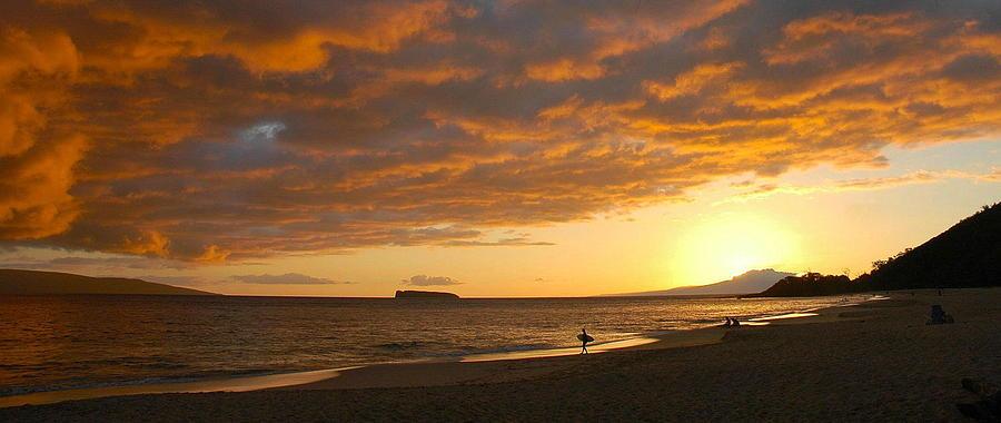 Sunset Photograph - Hawaiian Sunset  by Stephen  Vecchiotti